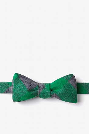 _Kent Green Skinny Bow Tie_