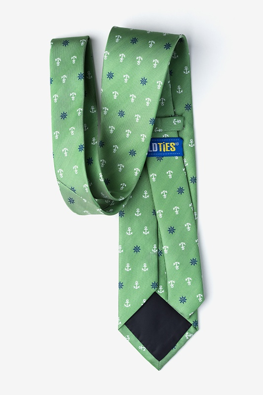 Anchors & Ships Wheels Green Extra Long Tie Photo (1)
