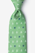 Anchors & Ships Wheels Green Tie Photo (0)