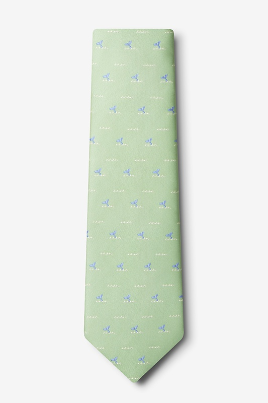 Whale Tails Green Tie Photo (1)