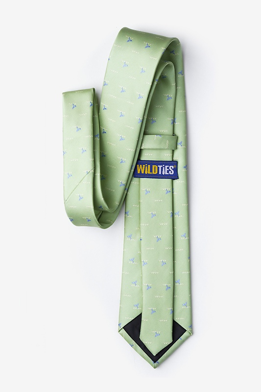 Whale Tails Green Tie Photo (2)