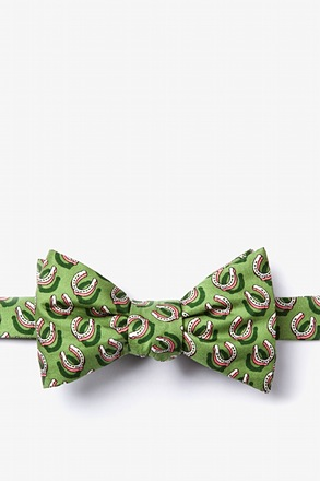 If the Shoe Fits Green Self-Tie Bow Tie