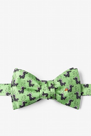 Lil' Stinker Self Tie Green Self-Tie Bow Tie