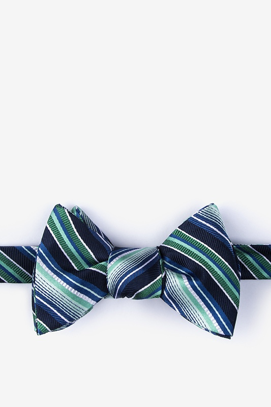 Moy Green Self-Tie Bow Tie Photo (0)
