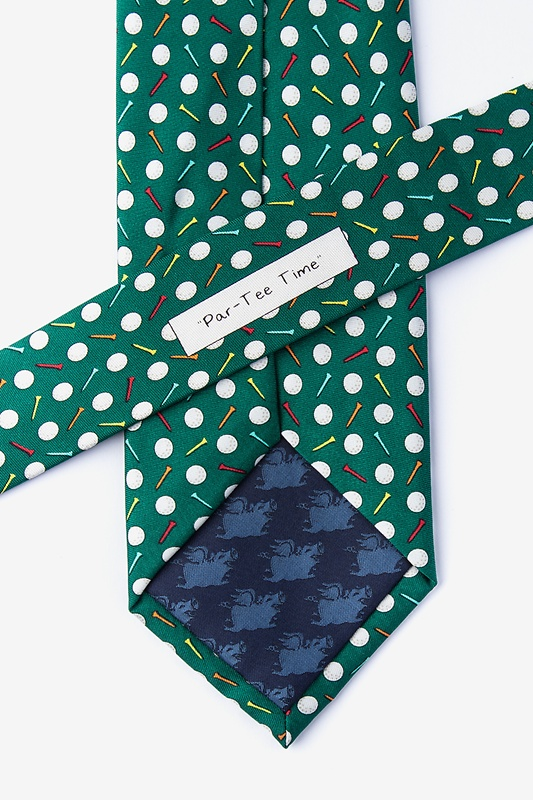 Par-Tee Time Green Extra Long Tie Photo (2)
