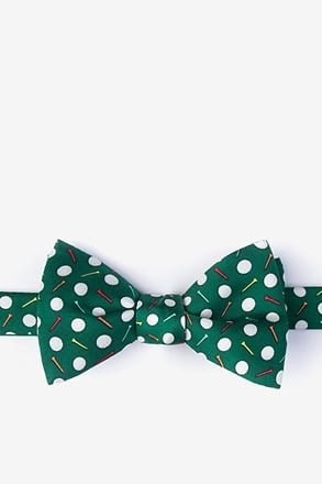 Par-Tee Time Green Self-Tie Bow Tie