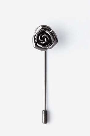 _Rose Gunmetal Lapel Pin_