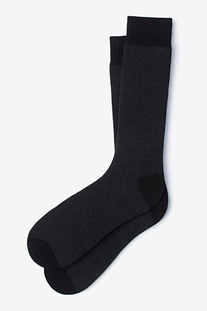 _Solid Choice Heather Black Sock_