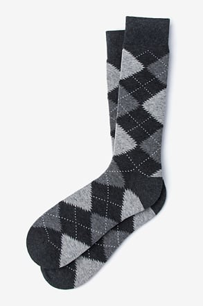 _Argyle Assassin Heather Gray Sock_