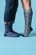 Head Over Heels Heather Gray Sock