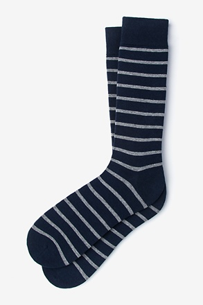 _Virtuoso Stripe Heather Gray Sock_