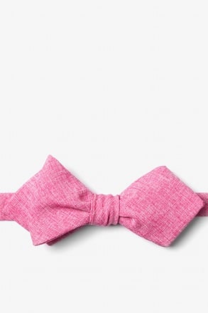 Denver Hot Pink Diamond Tip Bow Tie