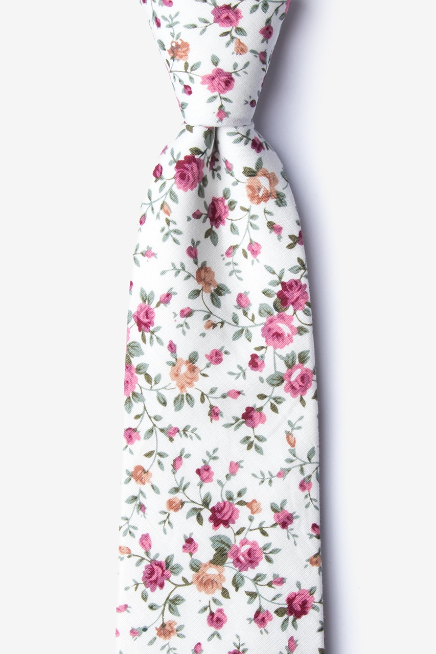 Bellevue Ivory Extra Long Tie Photo (0)