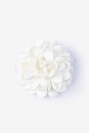 _Chrysanthemum Ivory Lapel Pin_