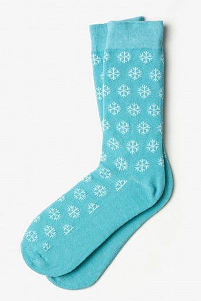 Snowflakes Light Blue Sock
