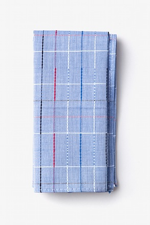 Tom Light Blue Pocket Square