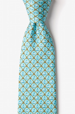 Knot Enough Sailing Light Blue Tie