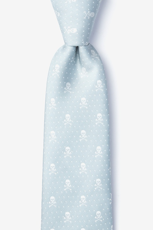 Skull and Polka Dot Light Gray Tie Photo (0)