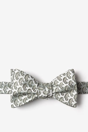 Seahorses Light Green Self-Tie Bow Tie