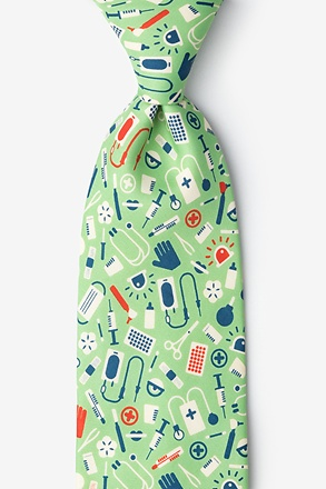 _Medical Supplies Lime Green Tie_