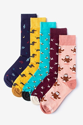 Don't Worry Be Happy Maroon Sock Pack