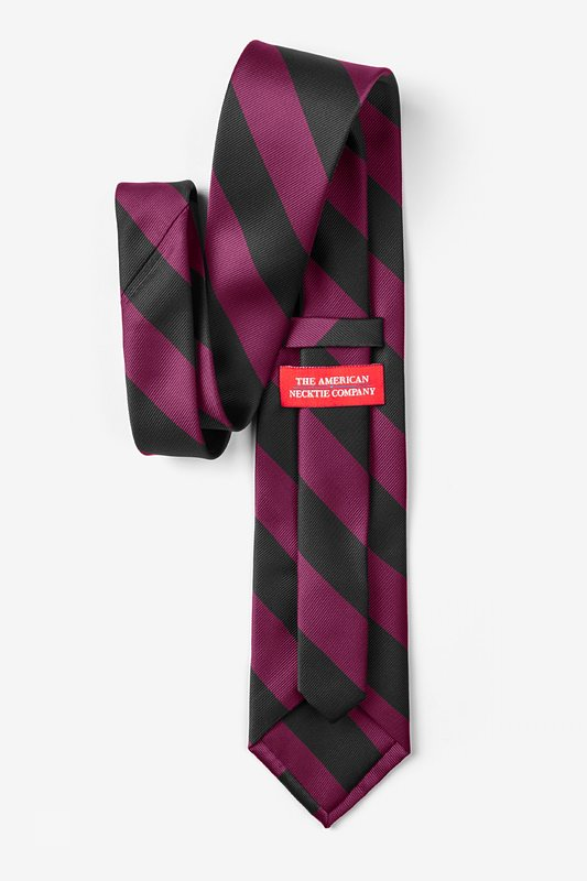 Maroon & Black Stripe Tie Photo (1)