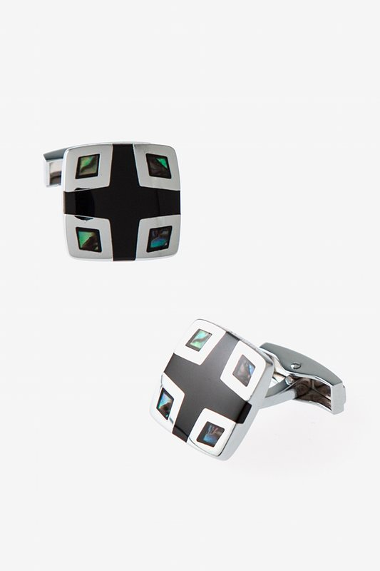 Iridescent Corner Square Mother Of Pearl Cufflinks Photo (0)
