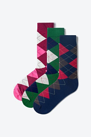 _Argyle Multicolor Sock Pack_