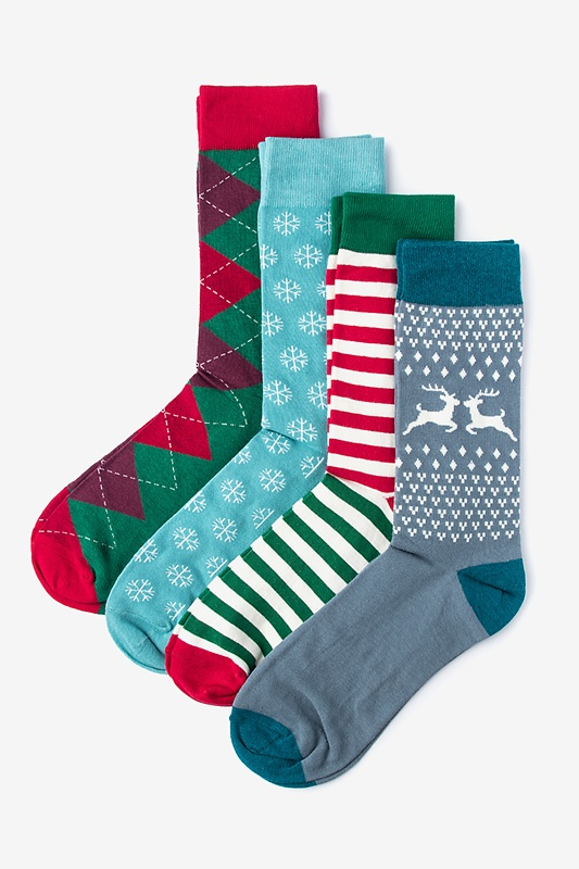 Christmas 4 Multicolor Sock Pack Photo (0)