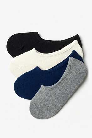 Classic No-Show 4 Multicolor Sock Pack