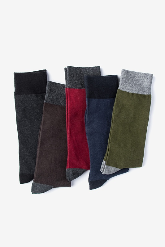 Dark Solid Multicolor Sock Pack Photo (0)