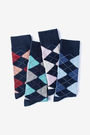 _Everyday Argyle 4 Multicolor Sock Pack_