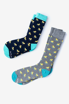 _Rubber Duck Multicolor His & Hers Socks_