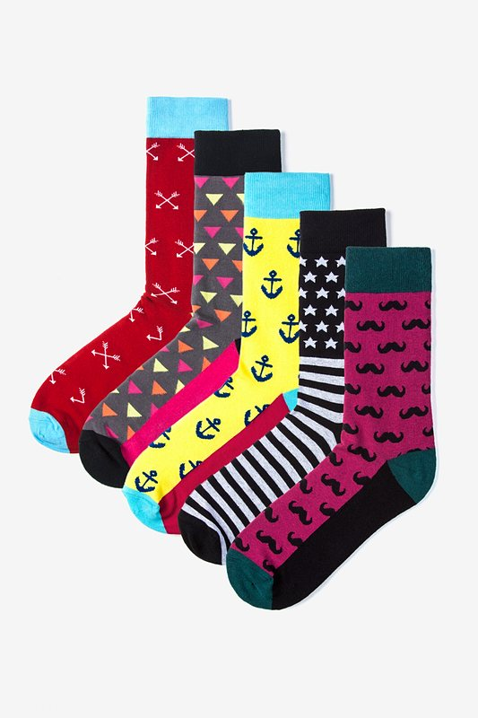 Hipster 5 Multicolor Sock Pack Photo (0)