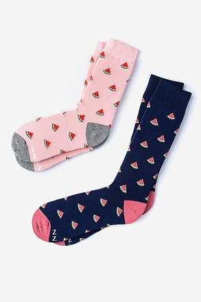 _Melon Multicolor His & Hers Socks_