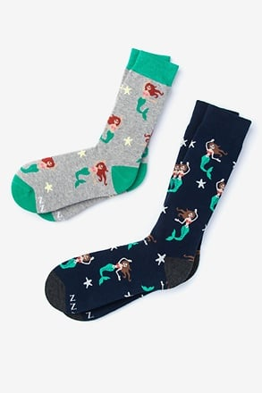 _Mermaid Multicolor His & Hers Socks_