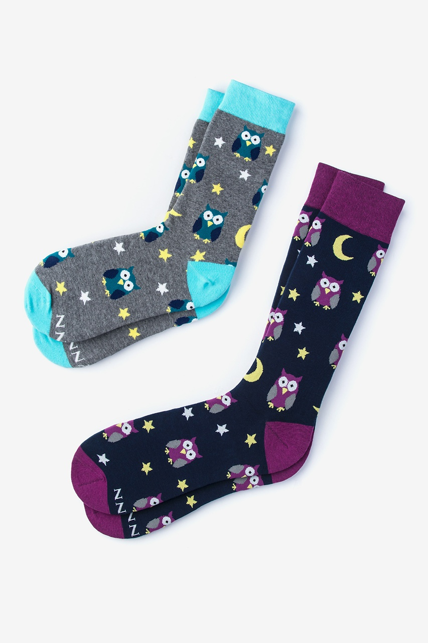 Owl Multicolor His & Hers Socks Photo (0)