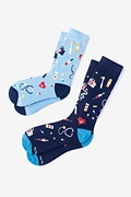 Multicolor Carded Cotton WHAT'S UP DOC? MULTICOLOR HIS & HERS SOCKS His & Hers Socks
