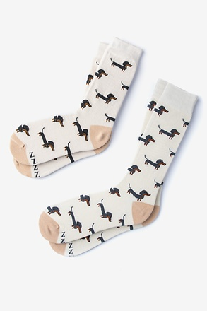 _Wiener Dog Multicolor His & Hers Socks_