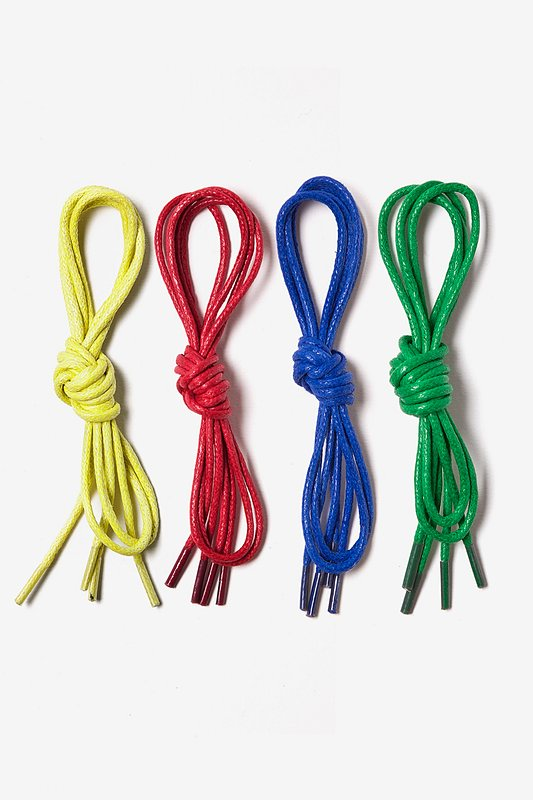 Bright & Bold 4 Pack Waxed Multicolor Shoelaces Photo (0)