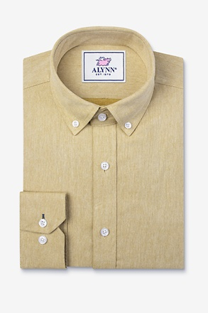 Caden Mustard Slim Fit Casual Shirt