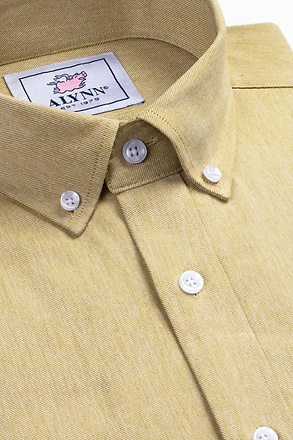 _Caden Mustard Slim Fit Casual Shirt_