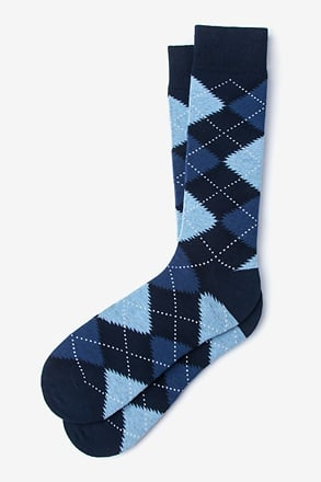 _Argyle Assassin Navy Blue Sock_