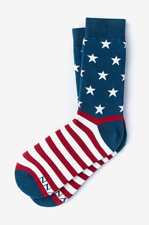 _All-American Navy Blue Women's Sock_