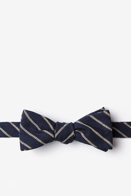 Arcola Navy Blue Skinny Bow Tie Photo (0)