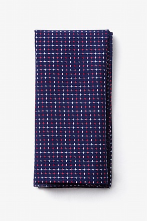 Ashland Navy Blue Pocket Square