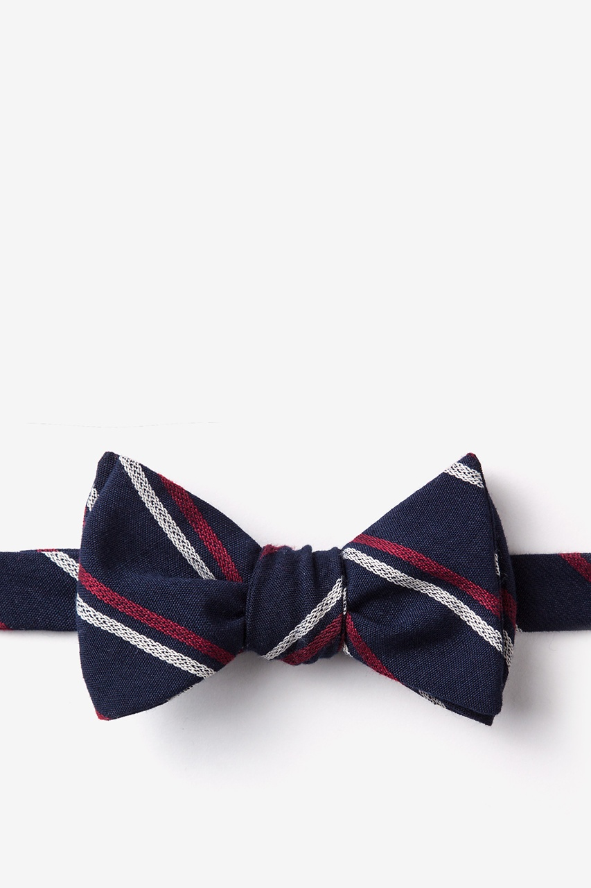 Beasley Navy Blue Self-Tie Bow Tie Photo (0)
