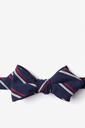 Beasley Self-Tie Navy Blue Diamond Tip Bow Tie