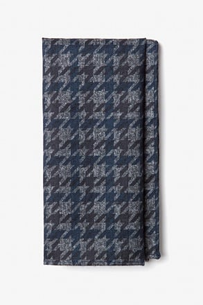_Chandler Navy Blue Pocket Square_