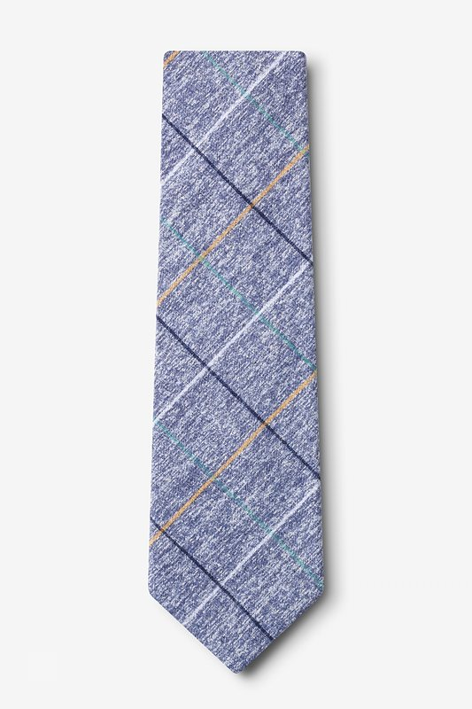 Globe Navy Blue Extra Long Tie Photo (1)
